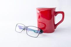 VETRI DELL'OCCHIO E DELLA TAZZA DA CAFFÈ Fotografia Stock Libera da Diritti