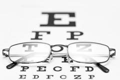 Vetri dell'occhio e fondo di bianco del grafico di occhio Immagine Stock