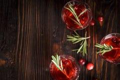 Vetri della bevanda fresca del mirtillo rosso fotografie stock libere da diritti