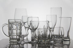 Vetri della bevanda su fondo bianco Immagini Stock