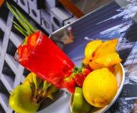 Vetri della frutta fresca Immagini Stock