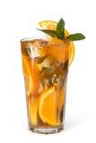 Vetri delle bevande di frutta con i cubetti di ghiaccio Immagini Stock Libere da Diritti