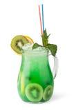 Vetri delle bevande di frutta con i cubetti di ghiaccio Immagini Stock