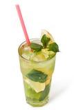 Vetri delle bevande di frutta con i cubetti di ghiaccio Immagine Stock