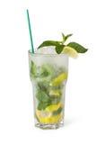 Vetri delle bevande di frutta con i cubetti di ghiaccio Fotografie Stock