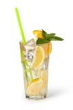 Vetri delle bevande di frutta con i cubetti di ghiaccio Fotografie Stock Libere da Diritti