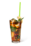Vetri delle bevande di frutta con i cubetti di ghiaccio Fotografia Stock Libera da Diritti