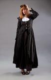 Vetri dello steampunk della donna fotografie stock