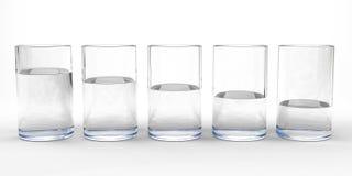 Vetri di acqua Fotografia Stock