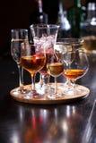 Vetri di alcool Fotografia Stock Libera da Diritti