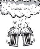Vetri di birra. Immagini Stock