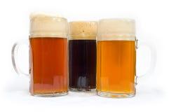 Vetri di birra Immagini Stock