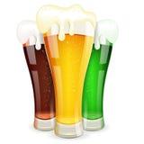 Vetri di birra Immagine Stock Libera da Diritti