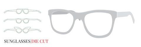 Vetri, vetri di carta dell'occhio della struttura Vettore con gli strati tagliati royalty illustrazione gratis