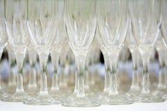 Vetri di Champagne Fotografie Stock
