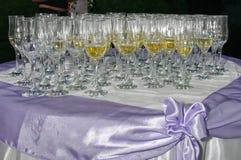 Vetri di Champagne Fotografie Stock Libere da Diritti