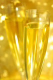Vetri di Champagne della scanalatura Fotografie Stock Libere da Diritti