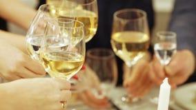 Vetri di champagne a disposizione archivi video