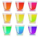 Vetri di liquido un colore differente Vettore ENV 10 Immagine Stock