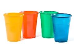 Vetri di plastica a gettare Multi-coloured Immagini Stock Libere da Diritti