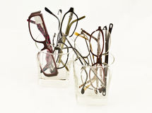 Vetri di prescrizione in vetri Fotografie Stock