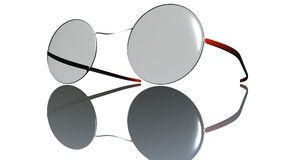 Vetri di Red Eye isolati su bianco Fotografia Stock Libera da Diritti