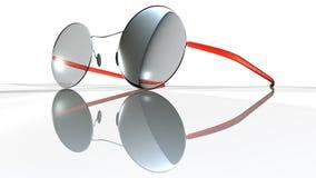 Vetri di Red Eye su bianco Fotografia Stock