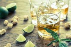 Vetri di rum Fotografia Stock