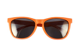 Vetri di sole arancio isolati Fotografia Stock