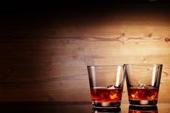 Vetri di Tho di whiskey Fotografia Stock