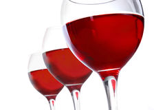 Vetri di vino Fotografie Stock Libere da Diritti