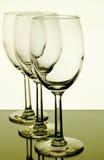 Vetri di vino con la riflessione Immagine Stock