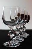 Vetri di vino con la riflessione parziale Fotografie Stock Libere da Diritti