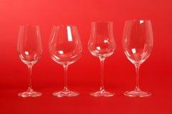 Vetri di vino di cristallo fotografie stock