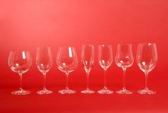 Vetri di vino di cristallo immagini stock libere da diritti