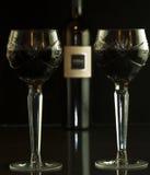 Vetri di vino di cristallo gemellare Immagine Stock Libera da Diritti