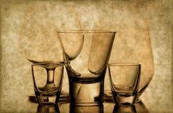 Vetri di vino e del whisky Fotografia Stock Libera da Diritti