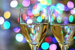 Vetri di vino festivi Immagine Stock