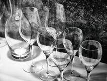Vetri di vino per vino e le bevande Immagine Stock Libera da Diritti