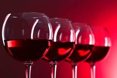 Vetri di vino rosato Immagine Stock
