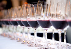 Vetri di vino rosso Immagine Stock Libera da Diritti