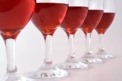 Vetri di vino rosso Fotografia Stock