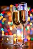 Vetri di vino spumante Fotografia Stock