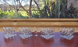 Vetri di vino vuoti Immagine Stock Libera da Diritti