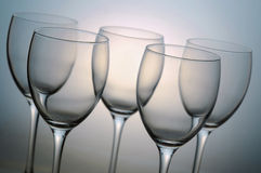 Vetri di vino vuoti fotografia stock libera da diritti