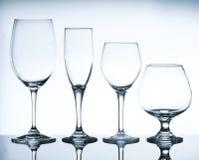Vetri di vino vuoti Immagini Stock Libere da Diritti