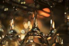 Vetri di vino vuoti Fotografie Stock Libere da Diritti