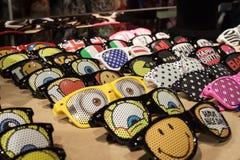 Vetri divertenti su esposizione alla fiera commerciale di Mipap a Milano, Italia Immagini Stock