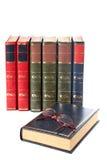 Vetri e libri Fotografia Stock Libera da Diritti