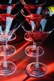 Vetri e liquore del Martini Fotografie Stock